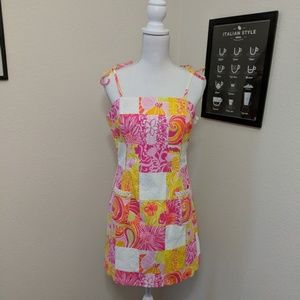 Lilly Pulitzer Patchwork Shift Dress **READ**